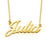 "Julia - 10K/14K Gold Custom Name Necklaces Adjustable Chain 16""-20"""