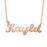 "Kayla - Copper/925 Sterling silver Personalized Any Name Choker Necklace Adjustable 16""-20"" Yellow Gold Plated"