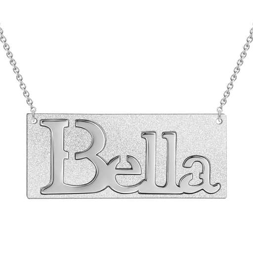 "Carry Your Name -Copper/925 Sterling Silver Personalized Name Necklace Adjustable 16""-20"""
