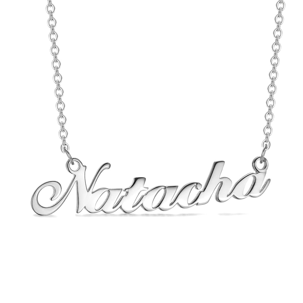 Natacha - 925 Sterling Silver Personalized Name Necklace 16