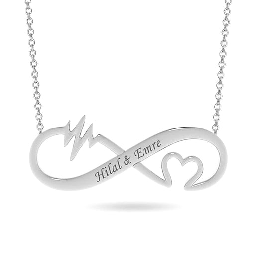 Getname Necklace Personalized Name Necklace Custom Inscribed Pendant Jewelry Heart Cut-Out Infinity Necklace with Any Name