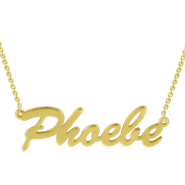 14k Gold Personalized Classic Name Necklace Adjustable Chain- White Gold/Yellow Gold/Rose Gold