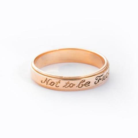 10K/14K Gold Personalized  Engraved Ring