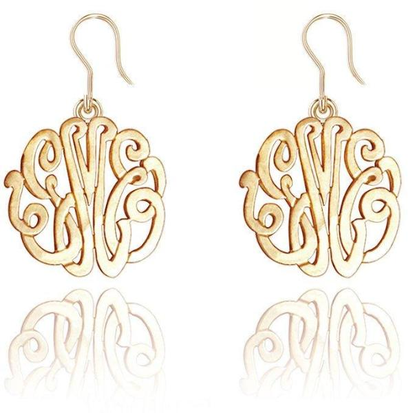 925 Sterling Silver Personalized Monogram Earring