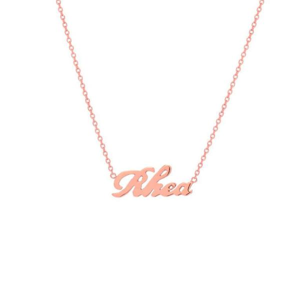 "925 Sterling Silver Personalized Script Name Necklace Adjustable Chain 16""-20"""