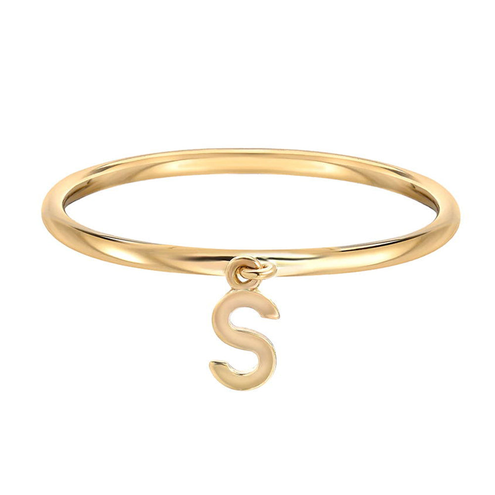Sterling Silver Personalized  Mini Stackable Initial Ring