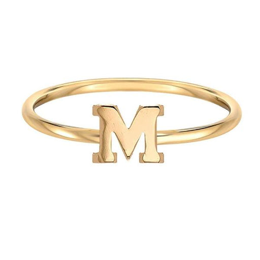 10K/14K Gold Personalized Initial Ring