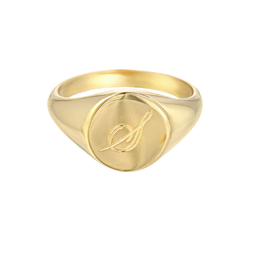 925 Sterling Silver Personalized Small Signet Ring