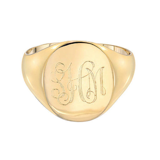 925 Sterling Silver Personalized Monogram Signet Ring