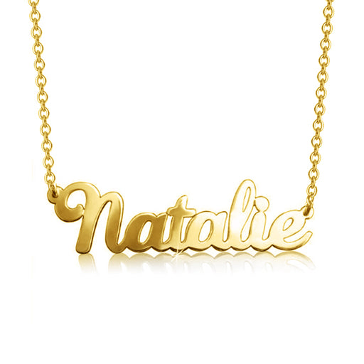 "10K/14K Gold Personalized Classic Name Necklace Adjustable 16""-20"""