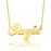 "14K Gold Personalized Swarovski Name Necklace  Adjustable 16""-20"""