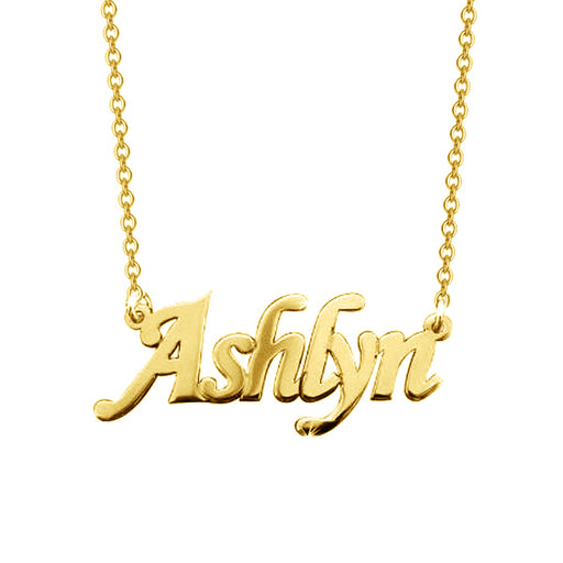 "Ashlyn - 925 Sterling Silver Personalized Name Necklace Adjustable 16""-20"""