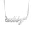 "14K Gold Personalized Name Necklace With Heart Adjustable 16""-20"""