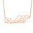 "14K Gold Personalized Artistic Style Name Necklace Adjustable 16""-20"""