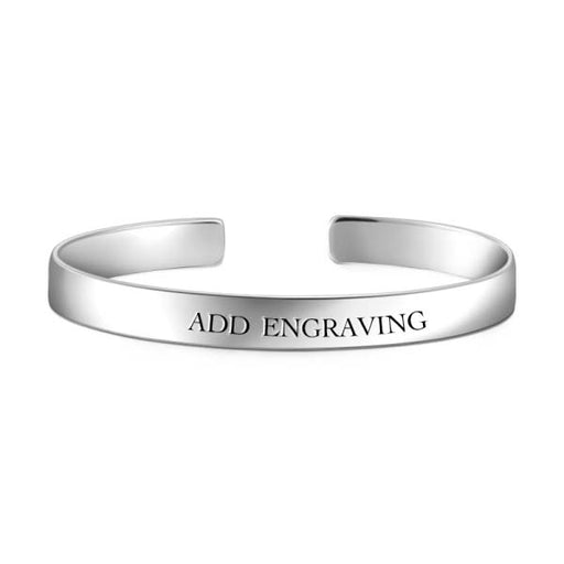 10K Gold Personalized Engravable Bangle -Large