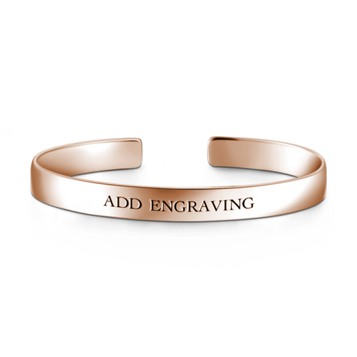 925 Sterling Silver Personalized Engravable Bangle -Large