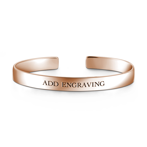 925 Sterling Silver Personalized Engravable Bangle - Large