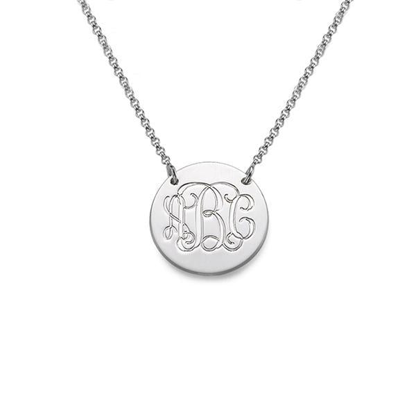 "925 Sterling Silver Personalized Engraved Necklace -Adjustable 16""-20"""