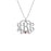 "925 Sterling Silver Personalized Monogram Necklace with Swarovski Adjustable 16""-20"""