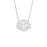 "925 Sterling Silver Personalized Monogram Pendant Necklace Adjustable 16""-20"""