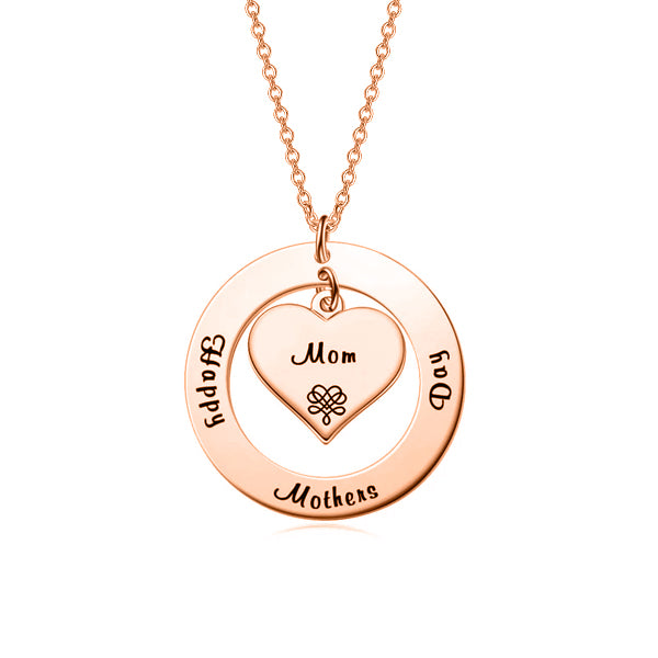 "yafeini Custom Name Necklace Personalized Jewelry Copper 925 Sterling Silver Yellow White Rose Mixed Adjustable 16""-20"" - Mother & Child"