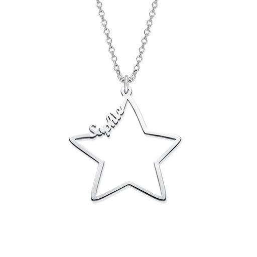 "You Are My Star 925 Sterling Silver Adjustable 16""-20"" Personalized Name Necklace"
