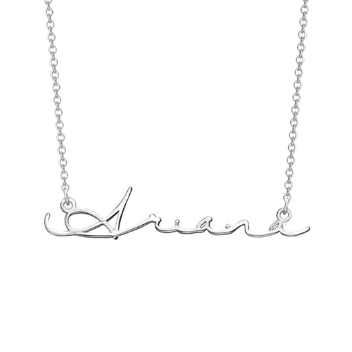 "Signature Style Copper/925 Sterling Silver Personalized Name Necklace Adjustable 16""-20"""