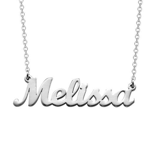 "Melissa - 925 Sterling Silver Personalized Name Necklace Adjustable 16""-20"""