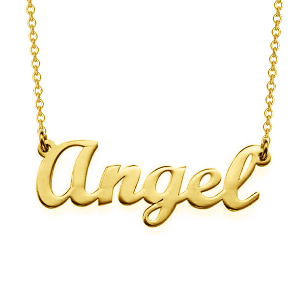 "Angel - Copper/925 Sterling Silver Personalized Classic Name Necklaces Adjustable Chain 16""-20"""