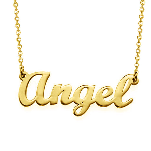 """Angel Style""-Copper/925 Sterling Silver Personalized Classic Name Necklaces Adjustable Chain 16""-20"""