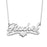 "10K/14K Gold Personalized Middle Heart Name Necklace Adjustable 16""-20"""