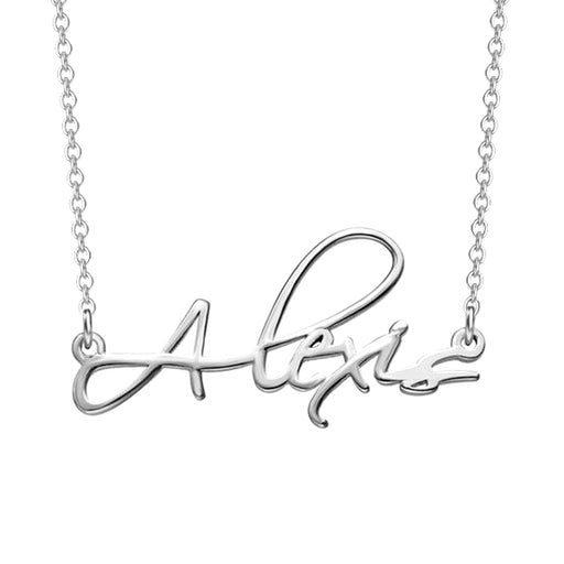 "Copper/925 Sterling Silver Personalized Script Necklace Adjustable 16""-20"""