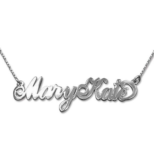 "925 Sterling Silver Personalized Two Capital Letters Name Necklaces Adjustable Chain 16""-20"""