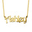 "14K Gold Personalized Name Necklaces Adjustable Chain 16""-20"""