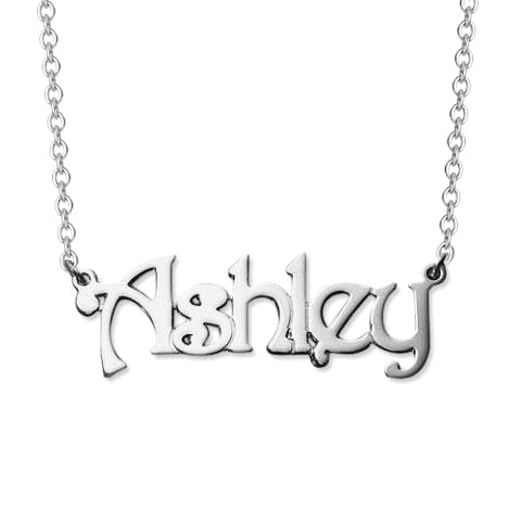 """Ashley""-Copper/925 Sterling Silver Personalized Name Necklaces Adjustable Chain 16""-20"""