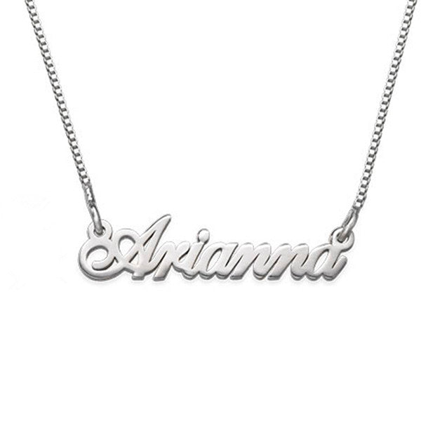 "925 Sterling Silver Personalized Tiny Classic Name Necklaces Adjustable Chain 16""-20"""