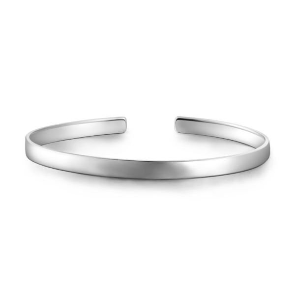 925 Sterling Silver Personalized Engravable Bangle-Medium