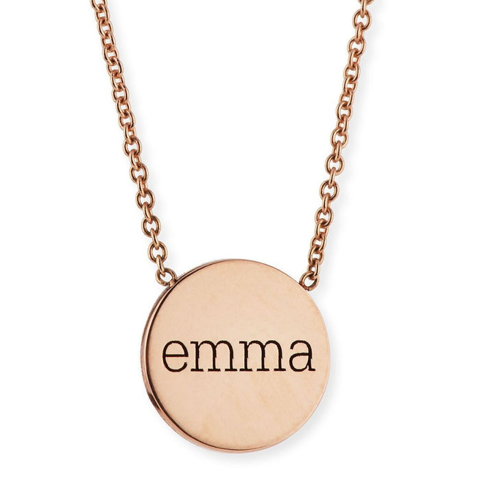 "Copper/925 Sterling Silver Square Hollow Personalized Engravable Necklace Adjustable 16""-20"""
