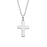 "925 Sterling Silver Personalized Cross Necklace- Adjustable 16""-20"""