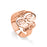 Copper/925 Sterling Silver Personalized Monogram Name Ring