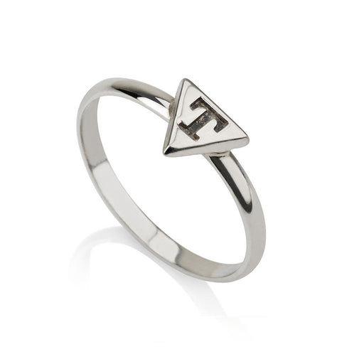 925 Sterling Silver Personalized  Triangle Engraved Ring
