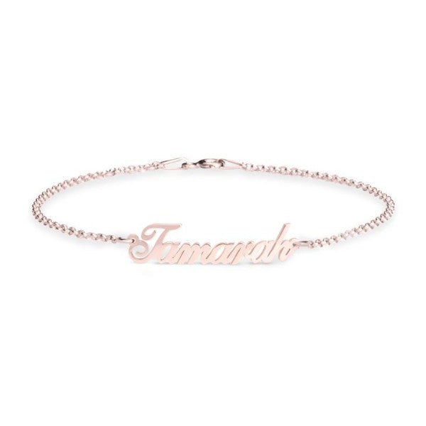 "925 Sterling Silver Personalized Classic Bracelet  Length Adjustable 6""-7.5"""