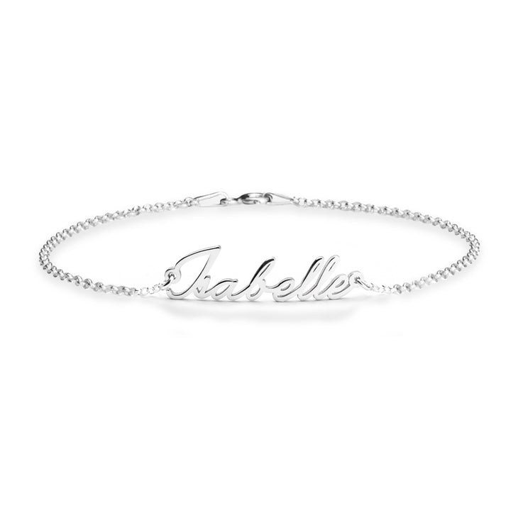 "925 Sterling Silver Personalized Dainty Name Bracelet Length Adjustable 6""-7.5"""
