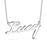 "Lucy - 925 Sterling Silver Personalized Classic Name Necklaces Adjustable Chain 16""-20"""