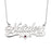 "Nataler - 925 Sterling Silver Personalized Swarovski Name Necklace With Underline Hearts Adjustable Chain 16""-20"""