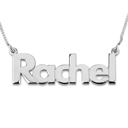 "925 Sterling Silver Personalized Bold Name Necklace Adjustable Chain 16""-20"""