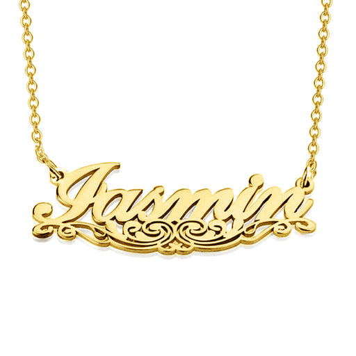 "Iasmin - 925 Sterling Silver Personalized Underlined Name Necklace Adjustable Chain 16""-20"""
