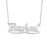 "Rachael - 925 Sterling Silver Personalized Infinity Underline Names Necklace Adjustable Chain 16""-20"""
