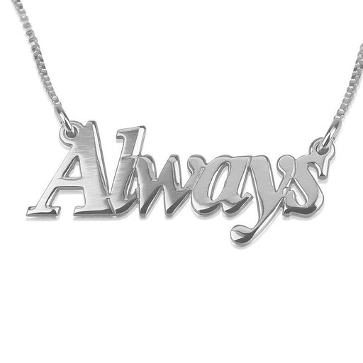 "925 Sterling Silver Personalized Stylish Name Necklace Adjustable Chain 16""-20"""