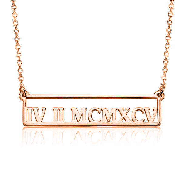 "Copper/925 Sterling Silver Personalized Number Necklace Adjustable 16""-20"""